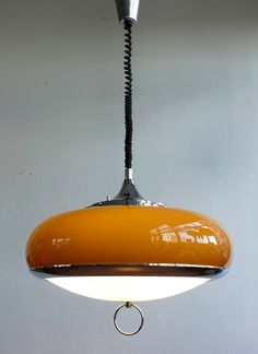 For sale: Hanging lamp by Guzzini Design Team for Meblo, . Lamp Design, Lighting Design, Lighting Ideas, Fire Pit Lighting, I Love Lamp, Room Lamp, Mid Century Decor, Lighting Solutions, Light Shades