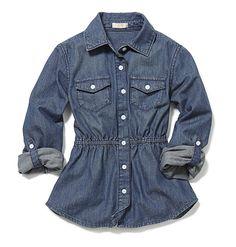For playdates. Joe Fresh Kid Girl's Chambray Shirt  @Ellen DeGeneres