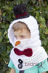 New Crochet Shawl Kids Hooded Cowl 31 Ideas Front Post Double Crochet, Half Double Crochet, Crochet Scarves, Crochet Shawl, Crochet Hook Sizes, Crochet Hooks, Crochet For Kids, Crochet Baby, Crochet Snowman