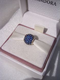 Authentic Pandora Blue Pave Lights CZ A Touch Of by JEWELSELAGANT, $40.00