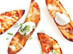 Birthday party menu: finger foods - Crispy Sweet Potato Skins