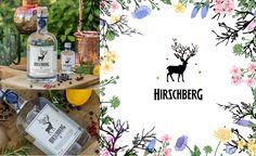 Hirschberg Gin, Logo, Gin Premium Gin, Logo, Logos, Environmental Print