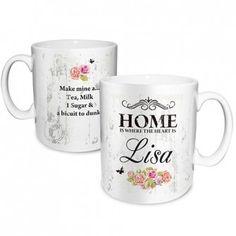 Personalised Shabby Chic Floral Mug