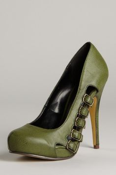 Michael Antonio Langston Buckle Pump...not so sure about the color but the style is gorg
