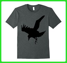 Mens Raven A Halloween Bird Of Prey T-Shirt Large Dark Heather - Holiday and seasonal shirts (*Amazon Partner-Link)