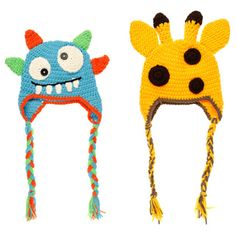 Boys' Baby Knit Animal Beanies (Set of 2) | Overstock™ Shopping - Big Discounts on Crummy Bunny Boys' Accessories