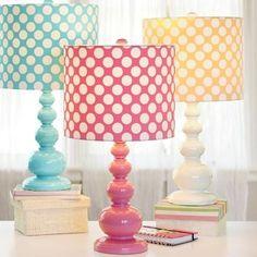 Adorable polka dot lamps