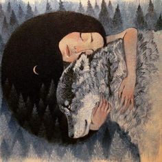 It is worse to stay where one does not belong at all than to wander about lost for a while and looking for the psychic and soulful kinship one requires. ― Clarissa Pinkola Estés Women Who Run With the Wolves: Myths and Stories of the Wild Woman Archetype art credit Lucy Campbell