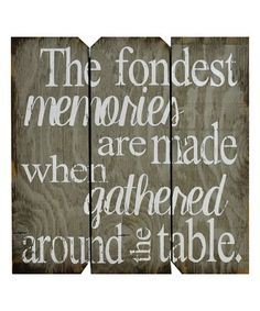 Another great find on #zulily! Gray & White 'The Fondest Memories' Wall Art #zulilyfinds