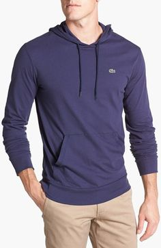 Lacoste Jersey Hoodie available at #Nordstrom