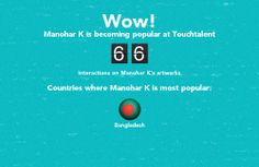 Manohar K is becoming popular @touchtalent.com