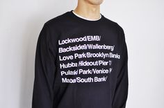 90's Famous Spot L/S Tee  White, Heather or Black.