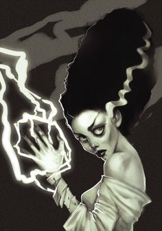 bride of frankenstein artwork deviant | The Bride of Frankenstein by AlisZombie