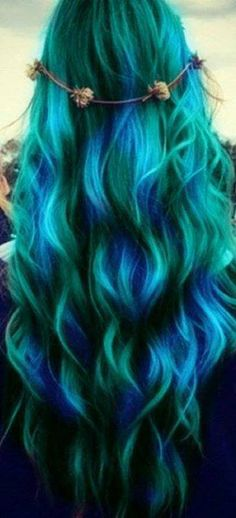 If this wouldn't ruin my hair...OMG I would totally do this, LOVE IT!!!
