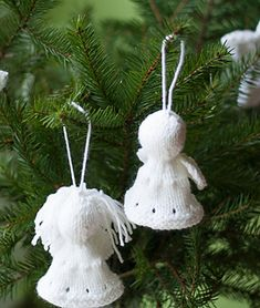 Ravelry: Christmas tree Angel by Magdalena Roslaniec Knitted Christmas Decorations, Knit Christmas Ornaments, Christmas Angel Ornaments, Christmas Tree Pattern, Christmas Tree Crafts, Christmas Knitting Patterns, Christmas Projects, Holiday Crafts, Christmas Ideas