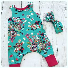 A personal favorite from my Etsy shop https://www.etsy.com/listing/523856733/baby-girl-romper-set-spring-summer