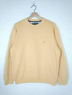 Rare!! Golden Bear by Jack Nicklaus Embroidered Logo Crewneck Pullover Yellow Sweatshirt | Sweater |