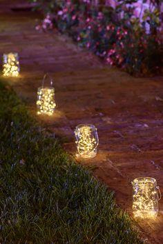 29 Stunning Ways to Style the String Lights for Outdoor Wedding Wedding decorations Forest Wedding, Garden Wedding, Fall Wedding, Diy Wedding, Wedding Ceremony, Rustic Wedding, Dream Wedding, Wedding Walkway, Lantern Centerpiece Wedding
