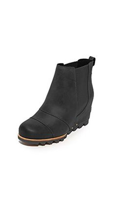 Sorel Women's Lea Wedge Booties, Black, 9 B(M) US - Brought to you by Avarsha.com