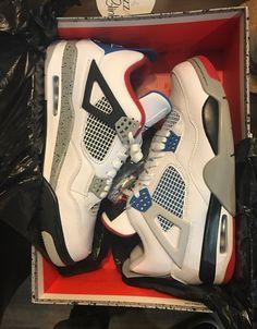 Nike Jordan Retro 4 on Mercari All Nike Shoes, Nike Shoes Air Force, Hype Shoes, Kd Shoes, Swag Shoes, Cute Sneakers, Shoes Sneakers, Jordan 23 Shoes, Jordan 11