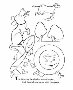 Hey Diddle Diddle Coloring Pages