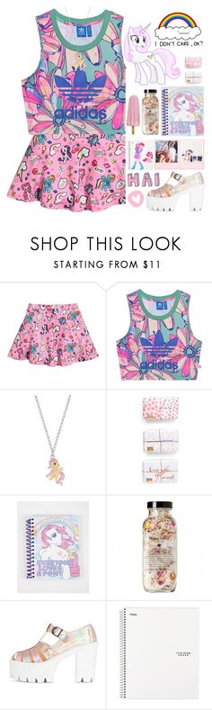"""""""Pony 🦄💕."""" by parkmona ❤ liked on Polyvore featuring adidas Originals and My Little Pony"""