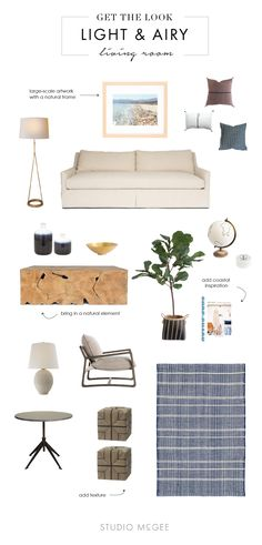 Get the Look: Light & Airy Living Room | Studio McGee Blog