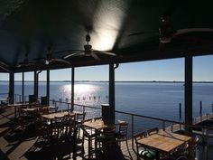 MustDo.com - Pinchers Crab Shack restaurant waterfront deck The Marina at Edison Ford Ft. Myers Florida