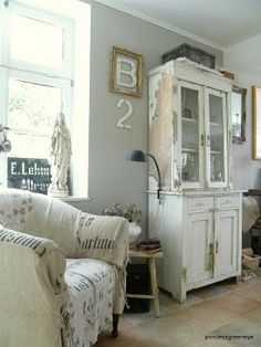 White, Gray and Cream Living space @Carolyn Roth Peeler