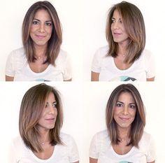 Lob Haircut & Highlights✂️🎨 Hair by me: Tina Tobar 🙋🏼 Appointments: (312)366-2117 Salon: Renee Feldman Salon Chicago: 1006 N Clark