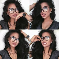 goodnight my loves rosemaniego Insta Pictures, Poses For Pictures, Picture Poses, Cute Glasses, Girls With Glasses, Instagram Pose, Instagram And Snapchat, Selfie Poses, Selfie Tips