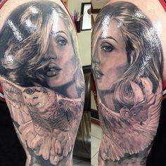 """@bnginksociety's photo: """"By Artist: @marshall_3rdeye. %0A#marshallthirdeye #blackandgreytattoo #blackandgrey #tattoo #bnginksociety #tatts #blackandgraytattoo #blackandgray #ink #tattoos #owl #owltattoo #detail #greywash #realism #portrait #tattoolife #tatted #inklife #inkedup #bodyart #skinart #blkngray #blkngrey #bngtattoo #bngink #bng"""""""
