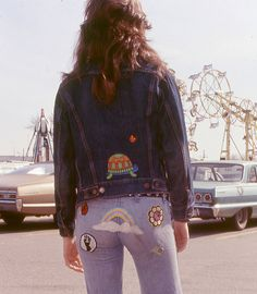 1970s blue jean patches