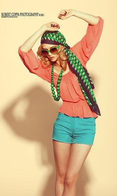 Concept: Summer, with inspiration from 'gypsy' styling and 70s colours