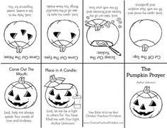 Coming Alive in Christ: From One Pumpkin to Another! Free Printable for Christian Children
