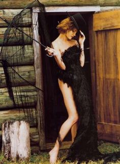 Natalia Vodianova by Bruce Weber, Vogue Italia, 'Outlaw Couture' editorial