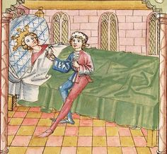 Elisabeth <Nassau-Saarbrücken, Gräfin, 1393-1456> Herpin — Stuttgart (?) - Werkstatt Ludwig Henfflin, um 1470 Cod. Pal. germ. 152 Folio 114r