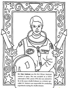 Mae Jemison Coloring Pages People Power Coloring Pages Pinterest