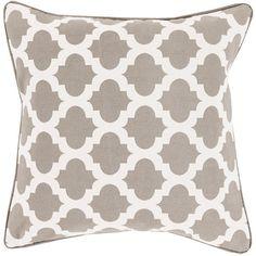 Morrocan Printed Lattice Gray Pillow