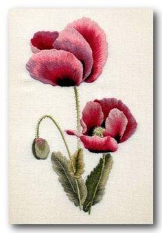 вышивка гладью букеты роз: 23 тыс изображений найдено в Яндекс.Картинках