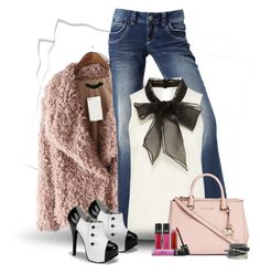 """DayStyle"" by dicabria ❤ liked on Polyvore featuring Roxy, Michael Kors, Sephora Collection, H&M, women's clothing, women's fashion, women, female, woman and misses"