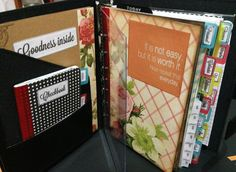 New planner/Journal/Filofax -- very interesting idea...