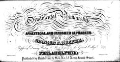 Becker's ornamental penmanship. Available as free .pdf download.