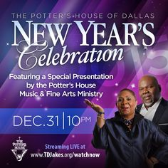 Join us Dec 31, 2014 at 10pm CST for a celebration. http://tdjakes.org/watchnow