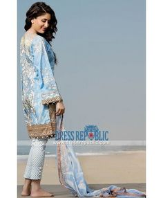 Buy Pakistani Lawn Suits 2015 Online - Crescent Lawn Available