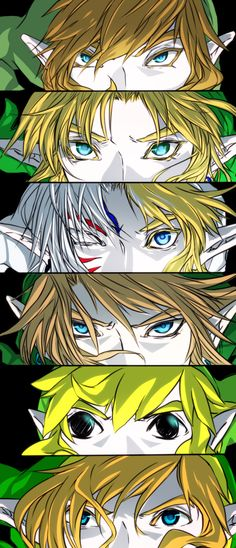 The Legend of Zelda 1 and 2, OOT, Majora's Mask,  Twilight Princess, Wind Waker, and Skyward Sword