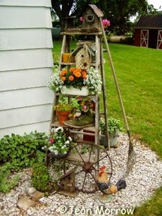 Old ladder reach new heights in the garden