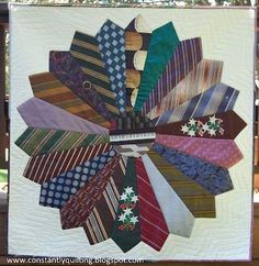 This would be great using Dad's or Grandpa's ties -men ties quilt