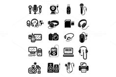 Digital devices in black colour icon by robuart on Creative Market