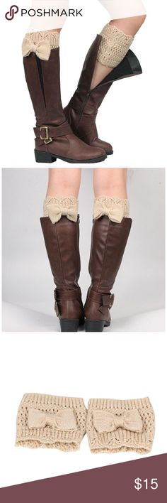 """Beige boot socks leg warmers Length:14cm/5.5""""(The manual measurement may be a little error)  For Adult wear  Soft and comfortable Our leg warmers are any boot's best friend.   We love them with rain or ankle-length boots.  You can Pair them with tights, leggings, skirts, skinny jeans for a sweet cozy look.  Care: Hand wash cold and lay flat to dry Accessories Hosiery & Socks"""